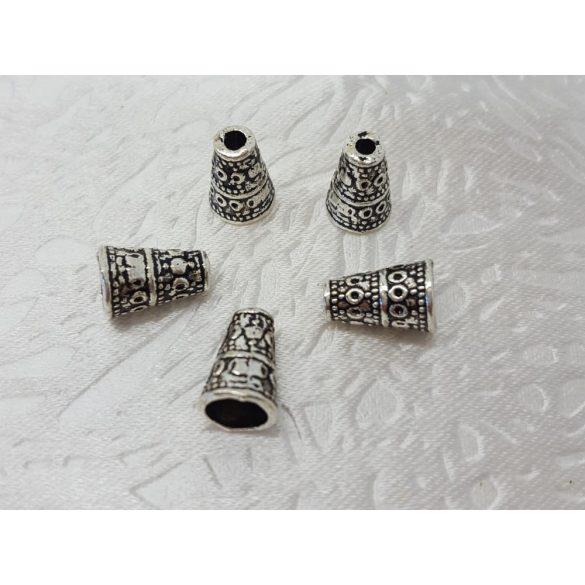 Gyöngykalap 7x10mm, 25db/csomag, antik ezüst