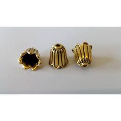 Gyöngykalap, antik arany, 10x12mm, 15db/csomag