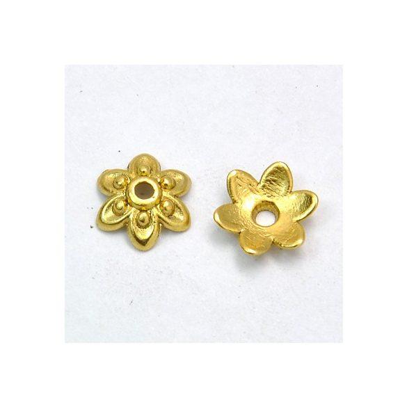 Gyöngykalap, antik arany, 6mm, 50db/csomag
