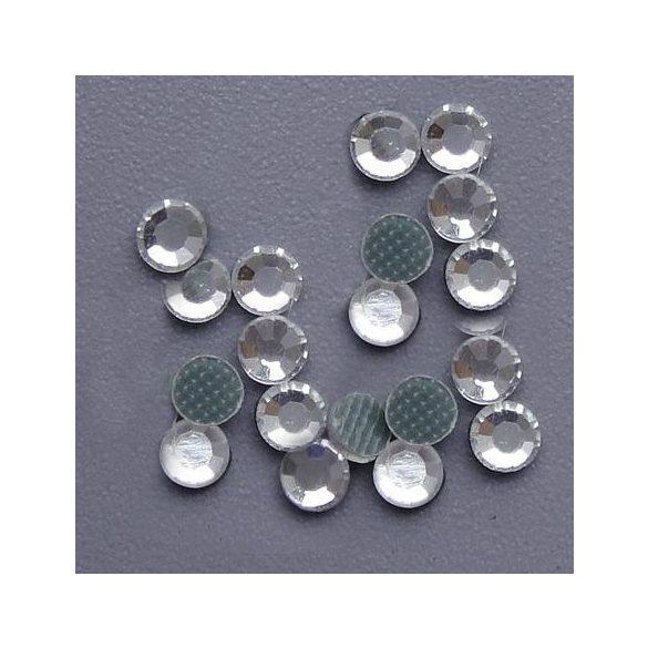 Hot fix kristály, 2mm, AAA minőség, crystal, 144db/csomag, 144 db/csomag