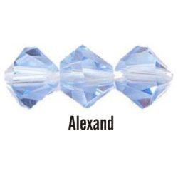 Kúpos kristálygyöngy, 4mm, alexand, 100 db/csomag