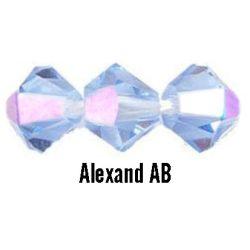 Kúpos kristálygyöngy, 4mm, alexand AB, 100 db/csomag