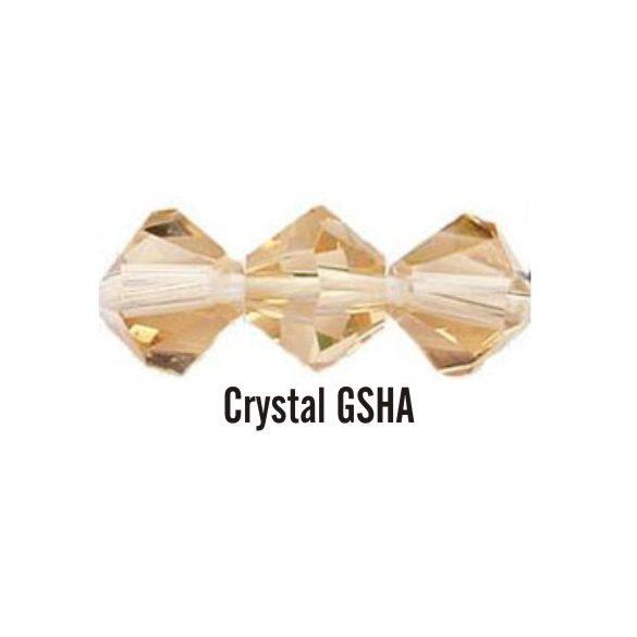 Kúpos kristálygyöngy, 4mm, crystal gsha, 100 db/csomag