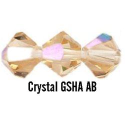 Kúpos kristálygyöngy, 3mm, crystal gsha AB, 100 db/csomag