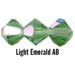 Kúpos kristálygyöngy, 3mm, light emerald AB, 100 db/csomag