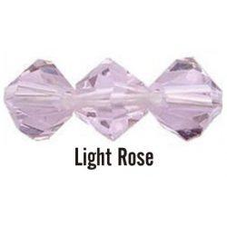 Kúpos kristálygyöngy, 3mm, light rose, 100 db/csomag