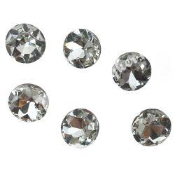 Kristály cabochon, crystal, 14mm, 6 db/csomag