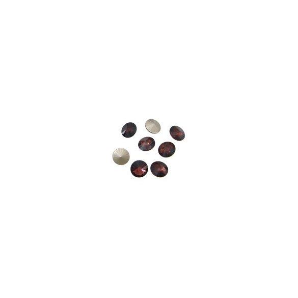 Kristály rivoli, amethyst, 10mm, 10 db/csomag