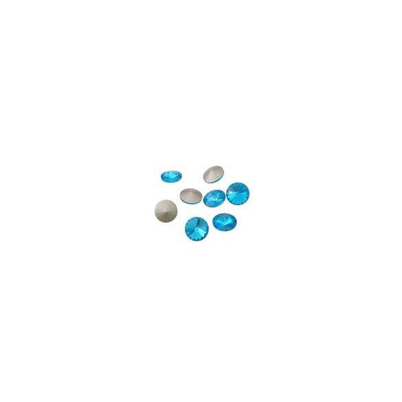 Kristály rivoli, aquamarine, 8mm, 10 db/csomag