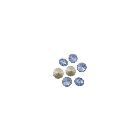 Kristály rivoli, light sapphire, 10mm, 10 db/csomag