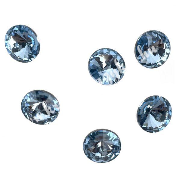 Kristály rivoli, light sapphire, 14mm, 6 db/csomag