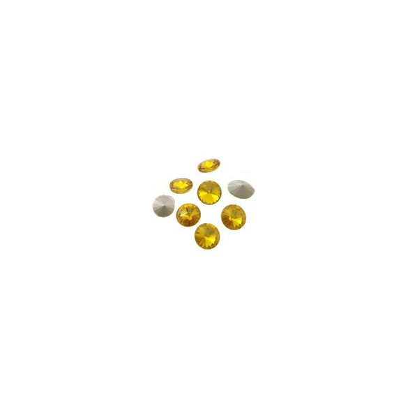 Kristály rivoli, sun, 10mm, 10 db/csomag