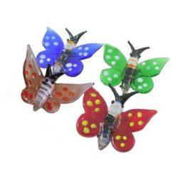 Lámpagyöngy, pillangó, 48x42mm, vegyes szín, db