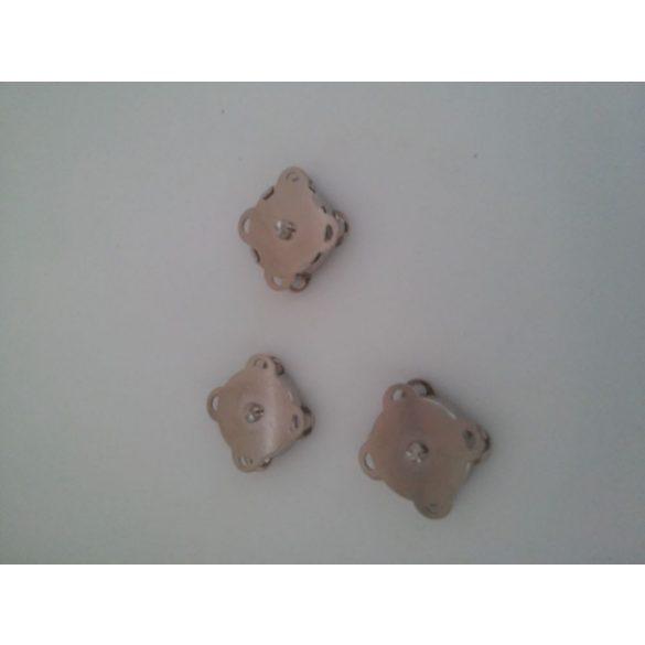 Mágneses táskakapocs, platina színű, 5 db/cs