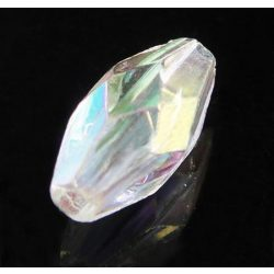 Műanyag irizáló gyöngy, 10x5mm, 100 db/csomag