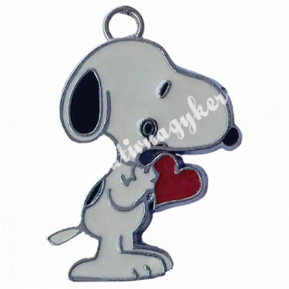 Fémmedál, Snoopy, 29x19x2mm, 20 db/csomag