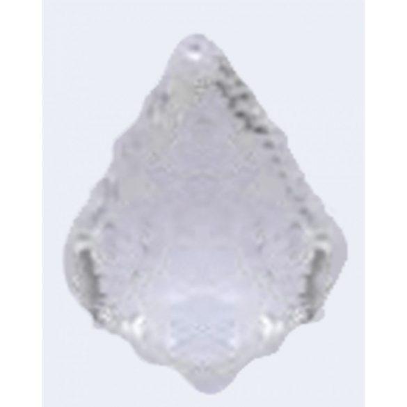Üvegmedál medáltartóval, baroqe, 38x26mm, crystal, 1 db/csomag