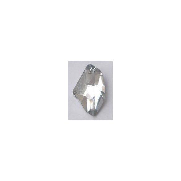 Üvegmedál medáltartóval, de-art, 40x25x14mm, crystal CAL, 1 db/csomag