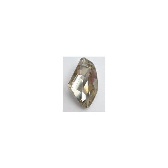 Üvegmedál medáltartóval, de-art, 40x25x14mm, crystal GSHA, 1 db/csomag