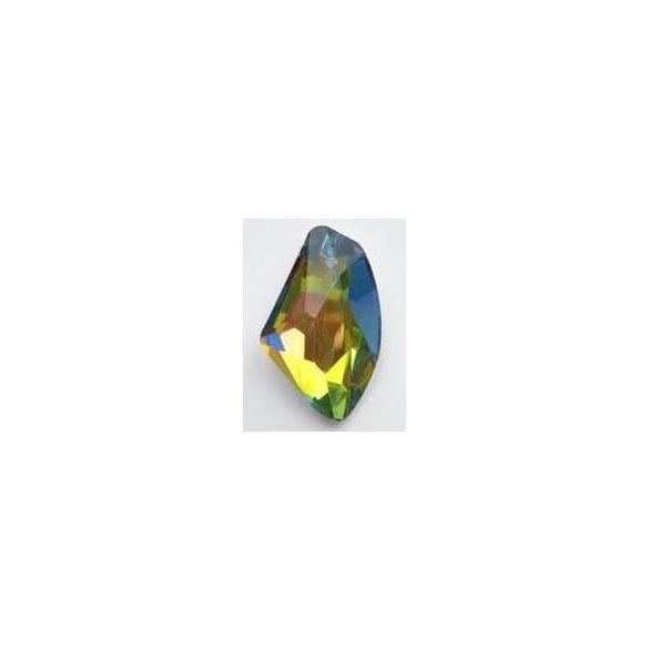 Üvegmedál medáltartóval, de-art, 40x25x14mm, crystal vitrail medium, 1 db/csomag