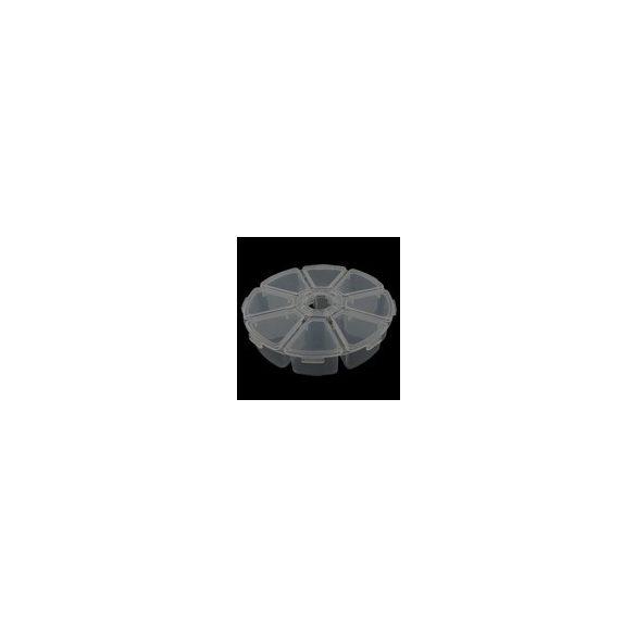 Műanyag gyöngytartó doboz, 104x27mm, kerek, 1db