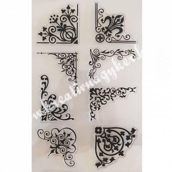 Szilikon pecsételő Sarokdíszek, 11x16 cm