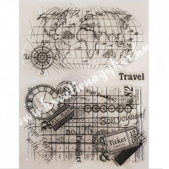 Szilikon pecsételő Utazás, 14x18 cm