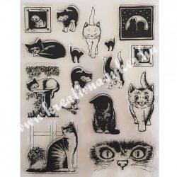Szilikon pecsételő Macskák és egér, 14x18 cm
