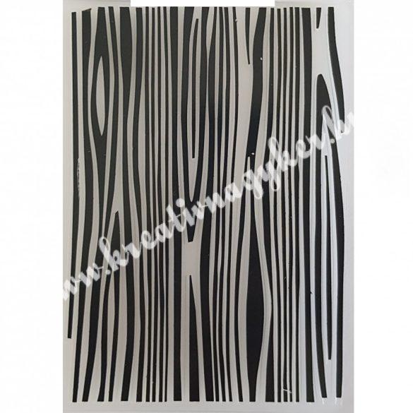 Műanyag pecsételő/mintázó Faerezet, 10,5x14,5 cm