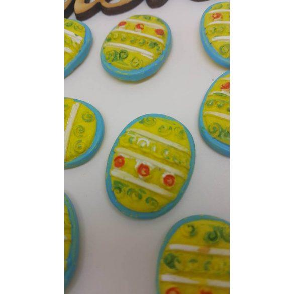 Ragasztható tojás kék-sárga 10db/doboz