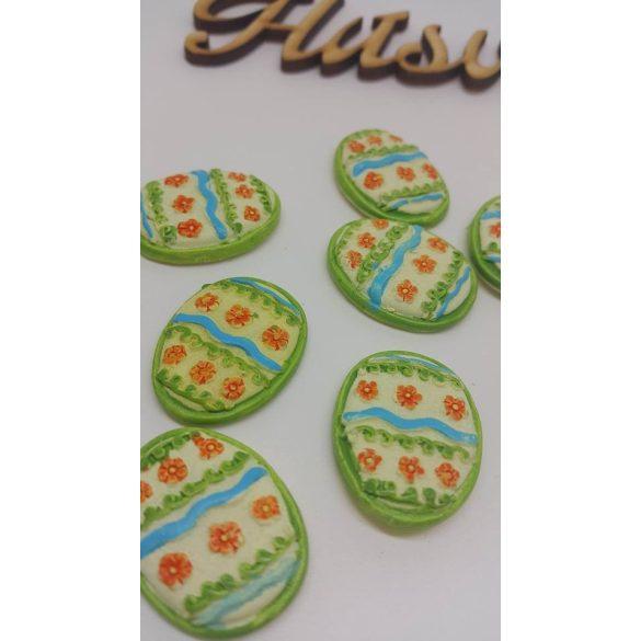 Ragasztható tojás, sárga-zöld 10 darab/doboz