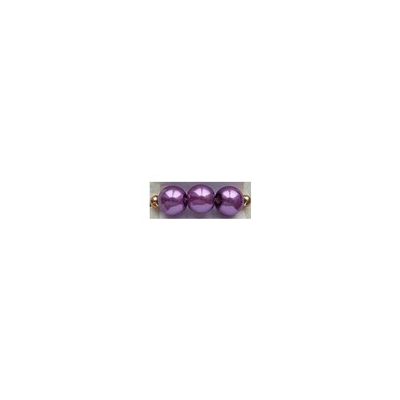 Üvegtekla, 4mm, (16) világoslila, 200 db/szál