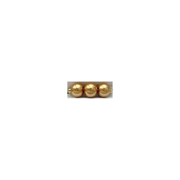 Üvegtekla, 3mm, (67) arany, 250 db/szál