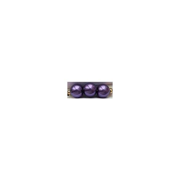 Üvegtekla, 4mm, (78) sötétlila, 200 db/szál
