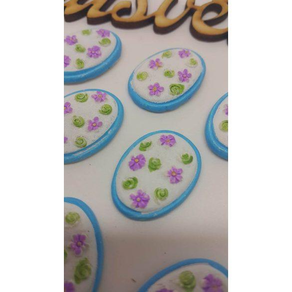 Ragasztható tojás kék-fehér 10 db/doboz