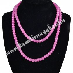 Üveggyöngy ,rózsaszín,6 mm,1 szál