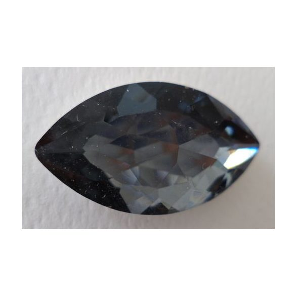 Üvegmedál furat nélkül, szem, 32x28x9mm, black diamond, 1 db/csomag