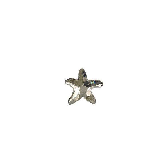 Üvegmedál tengeri csillag, 34x31x9mm, crystal CAL, 1 db/csomag
