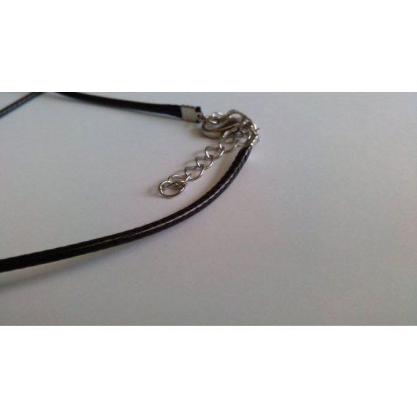 Viaszolt zsinór nyaklánc szerelékkel, fekete 10 db/csomag