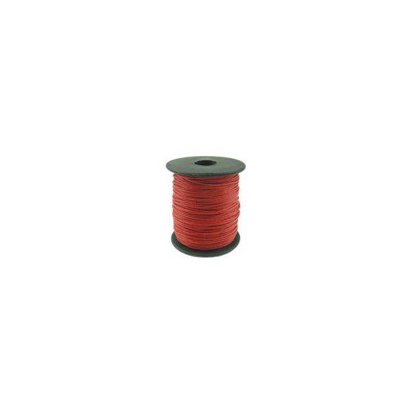 Viaszolt zsinór, 1mmx100yard, piros, 100 yard/tekercs (~90m)
