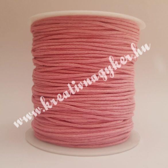 Viaszolt zsinór, 1mmx100yard, rózsaszín, 100 yard/tekercs (~91m)